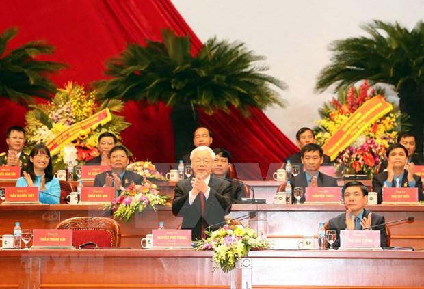 [Foto] Inauguran en Hanoi duodecimo Congreso Sindical de Vietnam hinh anh 6