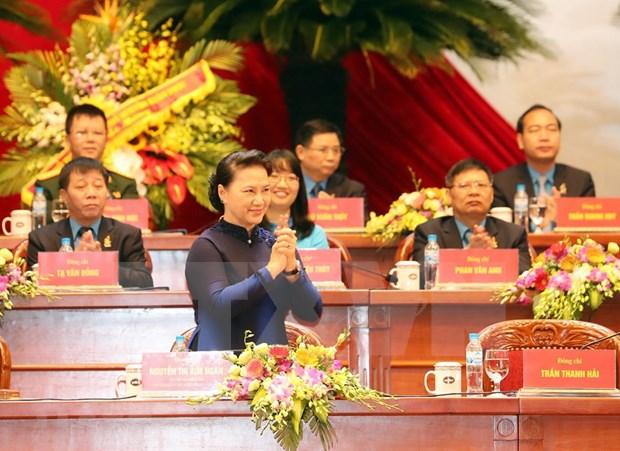 [Foto] Inauguran en Hanoi duodecimo Congreso Sindical de Vietnam hinh anh 7