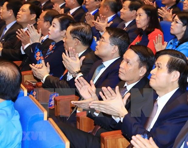 [Foto] Inauguran en Hanoi duodecimo Congreso Sindical de Vietnam hinh anh 8