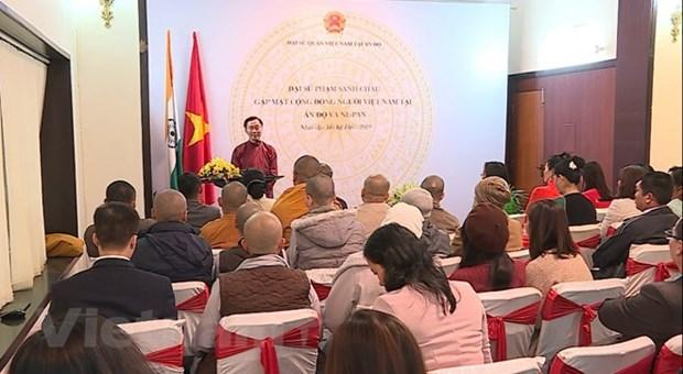 Vietnamitas en India y Nepal estrechan conexiones hinh anh 1