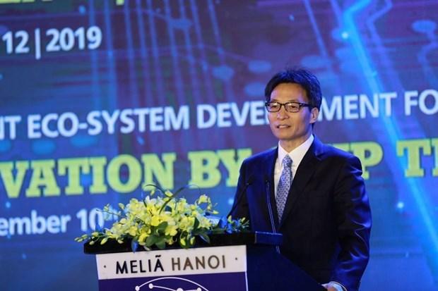 Urge vicepremier vietnamita promover el pago electronico hinh anh 1