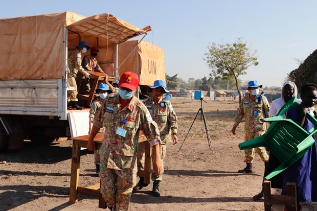 Oficiales vietnamitas en Sudan del Sur y aspiracion a la paz mundial hinh anh 3