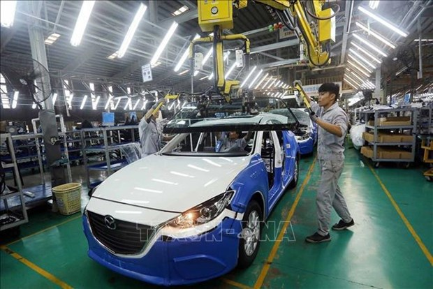 Sector automovilistico de Vietnam siente el calor de la escasez mundial de chips hinh anh 2