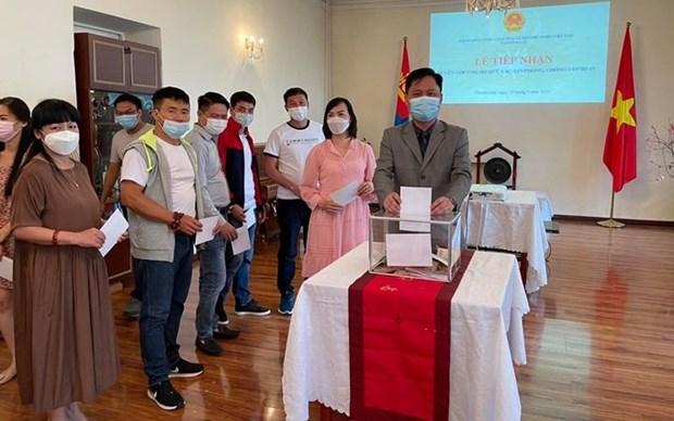 Vietnamitas en Mongolia respaldan lucha contra COVID-19 en pais de origen hinh anh 1