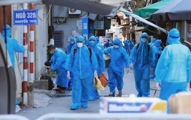 Hanoi reporta 45 nuevos casos del COVID-19 en areas bloqueadas hinh anh 1