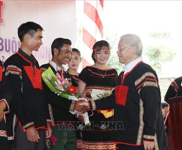 """""""Postura combativa y unidad basada en las masas"""" reune las fuerzas del pueblo vietnamita hinh anh 1"""