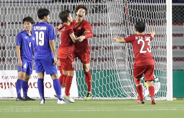 SEA Games 30: Equipo de futbol femenino de Vietnam defendio con exito el trono hinh anh 1