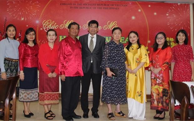 Vietnamitas en Filipinas dan bienvenida al Ano Nuevo Lunar 2021 hinh anh 1