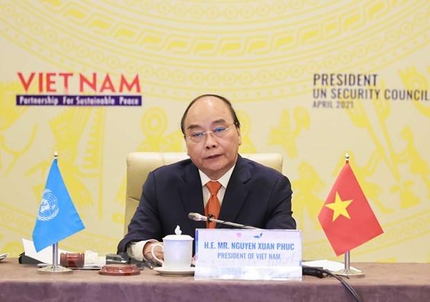 Exito de Vietnam en Mes presidencial de CSNU: impronta de un miembro responsable hinh anh 3