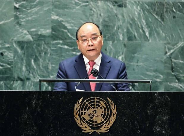 Discurso del presidente de Vietnam en debate general de la 76 sesion de Asamblea General de ONU hinh anh 1
