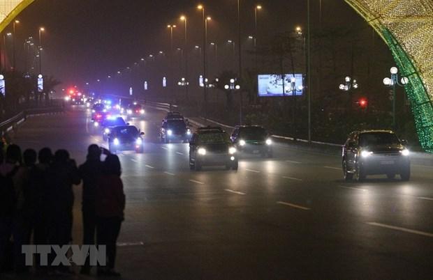 [Fotos] Presidente de Estados Unidos, Donald Trump, llega al hotel Marriott JW, en Hanoi hinh anh 5