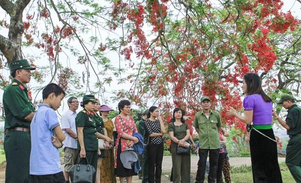 [Fotos] Antiguo campo de batalla de Dien Bien Phu atrae a turistas hinh anh 2