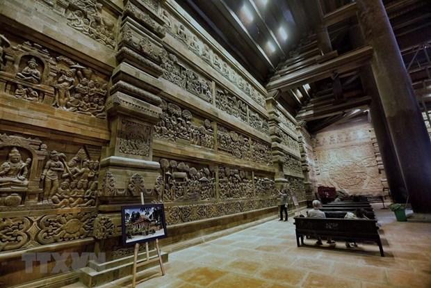 [Fotos] Pagoda Tam Chuc, dispuesta a celebrar el Dia de Vesak 2019 de la ONU hinh anh 14