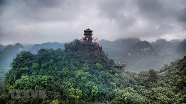 [Fotos] Pagoda Tam Chuc, dispuesta a celebrar el Dia de Vesak 2019 de la ONU hinh anh 2