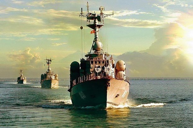 [Fotos] Fuerzas marinas vietnamitas, listas para defender soberania nacional hinh anh 1