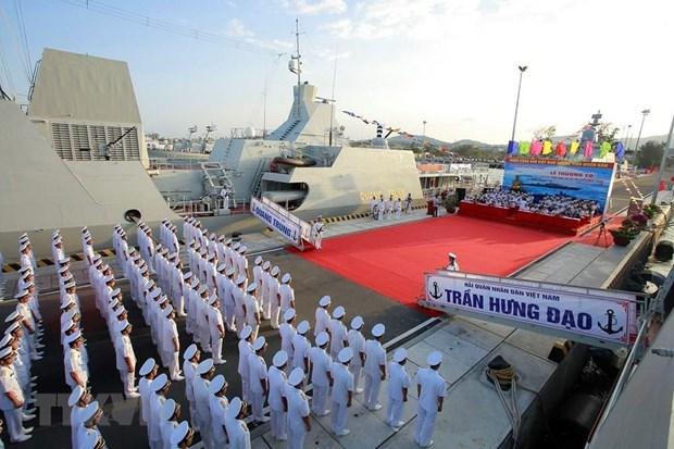 [Fotos] Fuerzas marinas vietnamitas, listas para defender soberania nacional hinh anh 6
