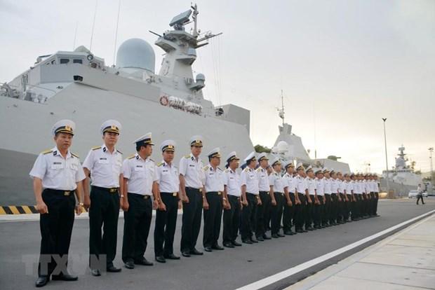 [Fotos] Fuerzas marinas vietnamitas, listas para defender soberania nacional hinh anh 7