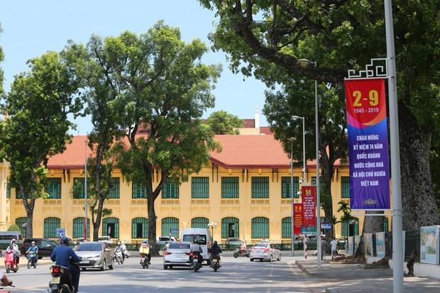 [Foto] Hanoi se viste de fiesta en Dia de la Independencia hinh anh 2