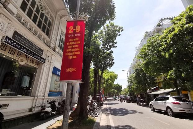 [Foto] Hanoi se viste de fiesta en Dia de la Independencia hinh anh 5