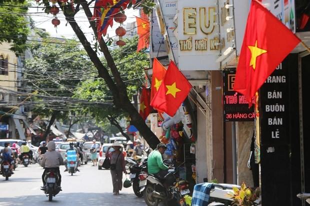 [Foto] Hanoi se viste de fiesta en Dia de la Independencia hinh anh 8