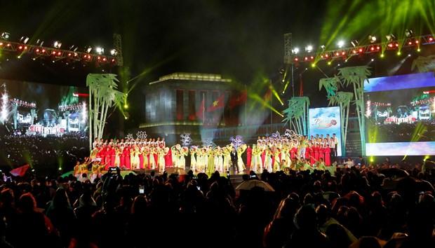 [Foto] Presentaciones artisticas en 50 aniversario del cumplimiento del Testamento del Presidente Ho Chi Minh hinh anh 2