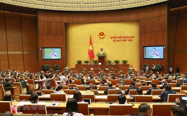 [Foto] Imagenes de la inauguracion de octavo periodo de sesiones de Asamblea Nacional de Vietnam hinh anh 5