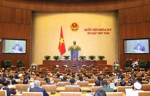 [Foto] Imagenes de la inauguracion de octavo periodo de sesiones de Asamblea Nacional de Vietnam hinh anh 6