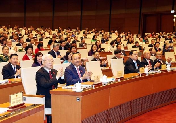 [Foto] Imagenes de la inauguracion de octavo periodo de sesiones de Asamblea Nacional de Vietnam hinh anh 7