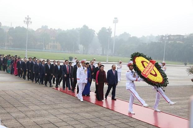 [Foto] Inauguran octavo periodo de sesiones de Asamblea Nacional de Vietnam hinh anh 1