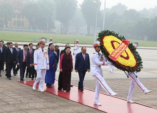 [Foto] Inauguran octavo periodo de sesiones de Asamblea Nacional de Vietnam hinh anh 2