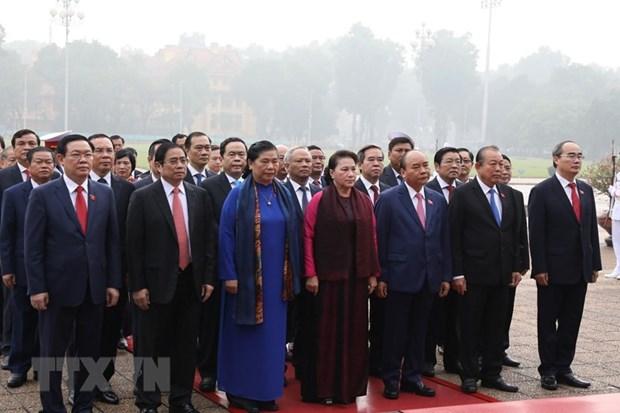 [Foto] Inauguran octavo periodo de sesiones de Asamblea Nacional de Vietnam hinh anh 3