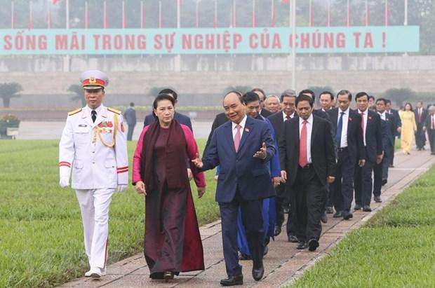 [Foto] Inauguran octavo periodo de sesiones de Asamblea Nacional de Vietnam hinh anh 4
