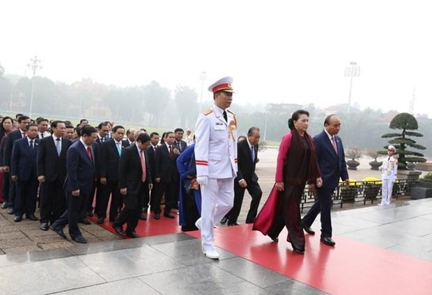 [Foto] Inauguran octavo periodo de sesiones de Asamblea Nacional de Vietnam hinh anh 5
