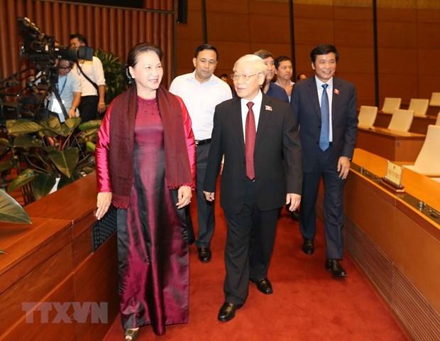 [Foto] Imagenes de la inauguracion de octavo periodo de sesiones de Asamblea Nacional de Vietnam hinh anh 1