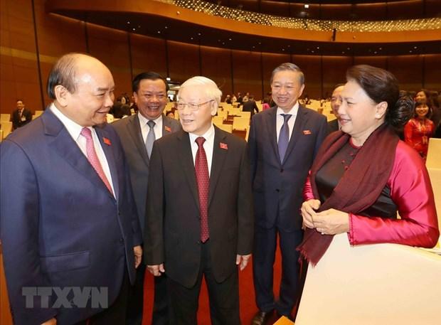 [Foto] Imagenes de la inauguracion de octavo periodo de sesiones de Asamblea Nacional de Vietnam hinh anh 2