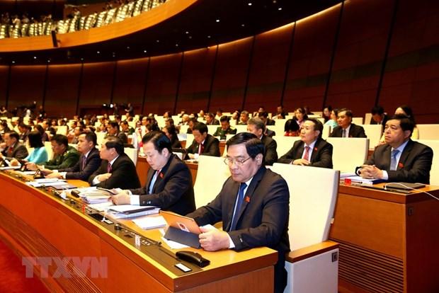 [Foto] Imagenes de la inauguracion de octavo periodo de sesiones de Asamblea Nacional de Vietnam hinh anh 3