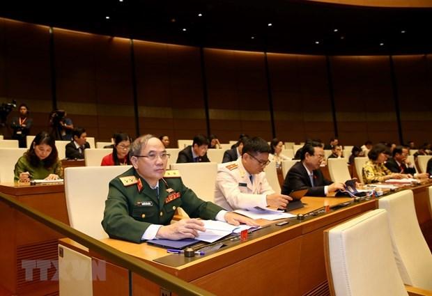 [Foto] Imagenes de la inauguracion de octavo periodo de sesiones de Asamblea Nacional de Vietnam hinh anh 4