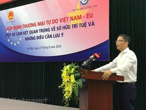 Empresas vietnamitas deben respetar propiedad intelectual y aprovechar EVFTA hinh anh 1