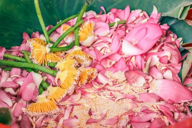 [Foto] Descubre elaboracion de te con aroma de flor de loto hinh anh 4