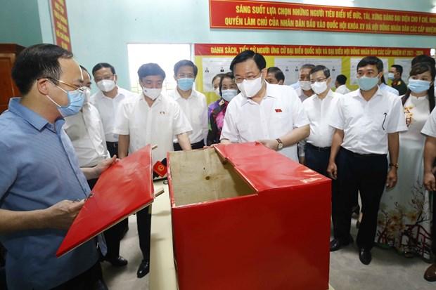 Garantizan seguridad absoluta para las elecciones de diputados a la Asamblea Nacional de la XV legislatura hinh anh 5