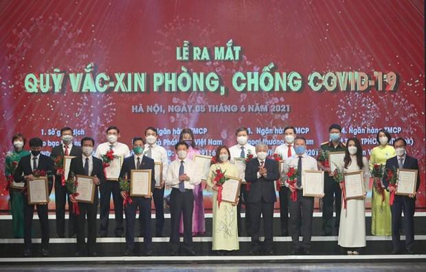 Vietnamitas se unen en lucha contra el COVID-19 hinh anh 1