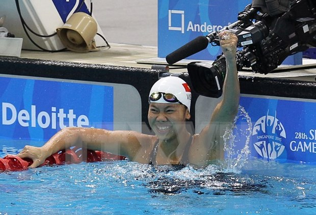Destacada actuacion de nadadora vietnamita en campeonato de Asia hinh anh 1