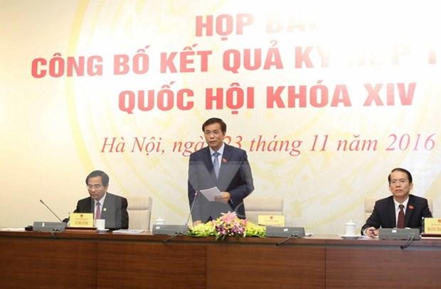 Concluye con exito segundo periodo de sesiones del Parlamento de Vietnam hinh anh 1