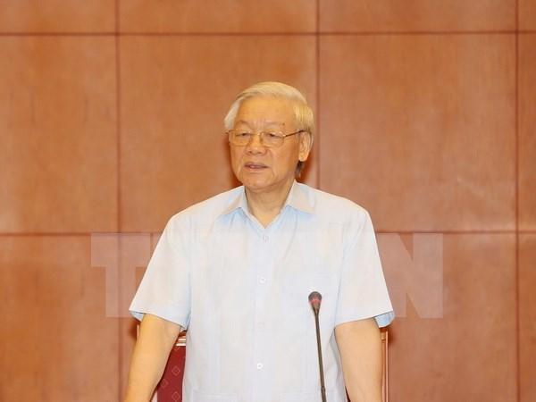 Lider partidista parte de Hanoi para visitar Laos hinh anh 1