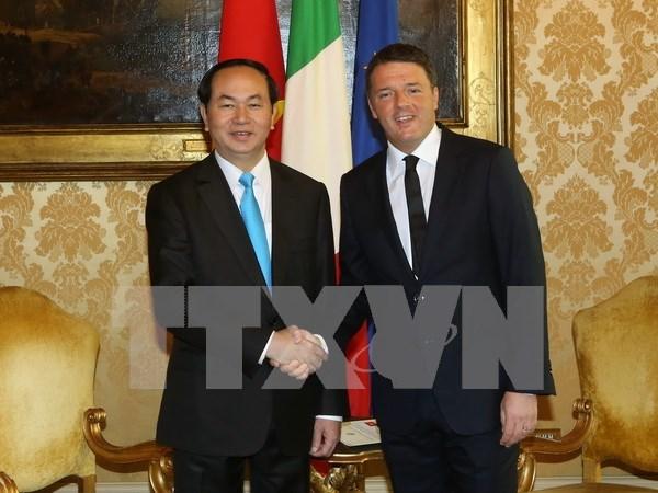 Vietnam e Italia elevaran valor de comercio bilateral a seis mil millones de dolares hinh anh 1