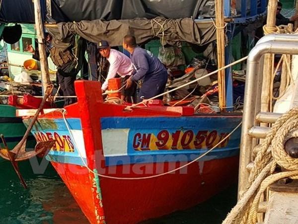 Fuerzas navales de Tailandia detienen barcos vietnamitas por pesca ilegal hinh anh 1