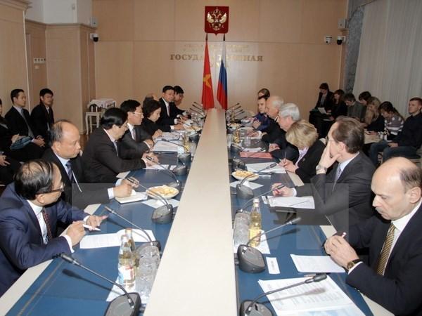 Vicepremier vietnamita reitera prioridad a relaciones con Rusia hinh anh 1