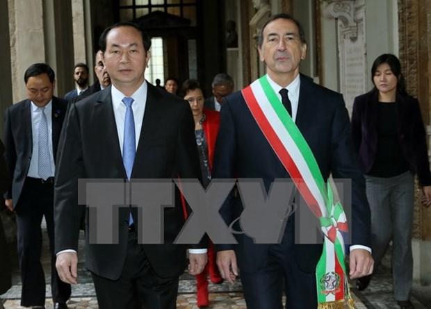 Presidente de Vietnam concluye visita a Italia hinh anh 1