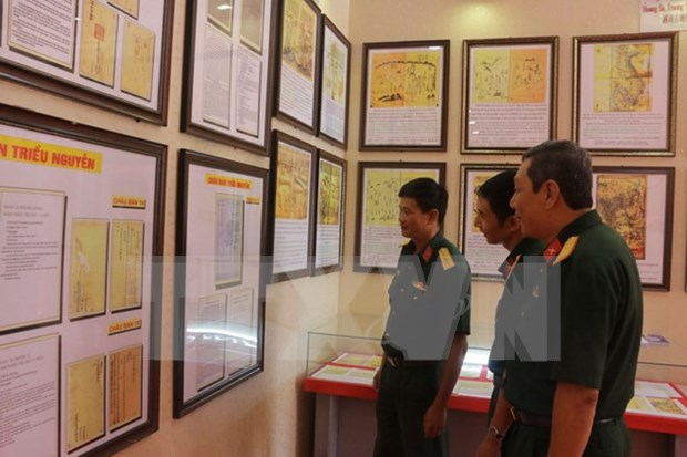 Efectuan en Can Tho exposicion de mapas sobre Hoang Sa y Truong Sa hinh anh 1