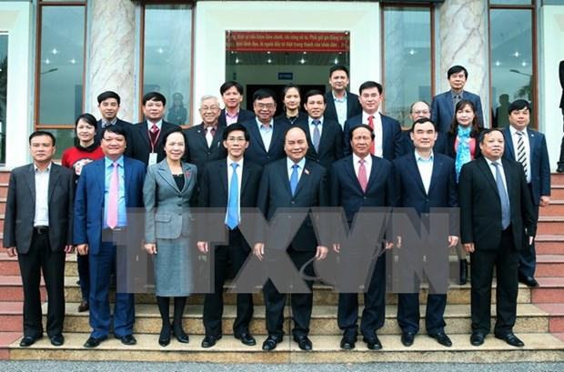 Premier vietnamita se reune con electores en ciudad nortena de Hai Phong hinh anh 1